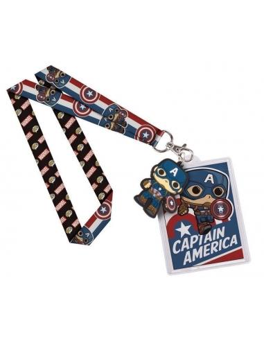 LLavero y cinta Marvel Pop Capitan America